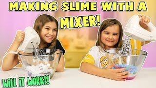 MAKING SLIME WITH A MIXER! | JKrew