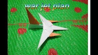How to make a paper airplane. BEST paper  jet plane. BEST ORIGAMI PAPER JET. real plan