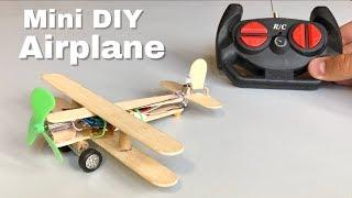 How to Make Aeroplane with DC Motor - RC Toy Airplane