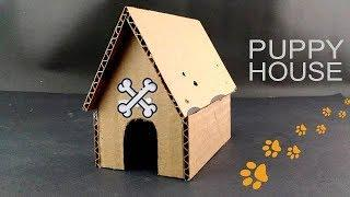 DIY Mini Puppy House from Cardboard