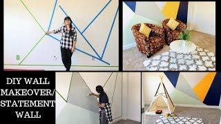 DIY WALL MAKEOVER ON BUDGET/ HOME DECOR  - Reallife Realhome