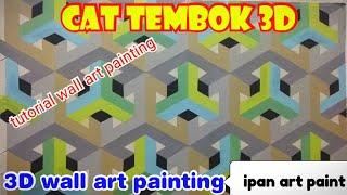 Cat tembok 3D- tutorial cat 3D, 3D wall art painting decoration