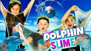 DIY GLITTER SLIME!  How to Make MAGICAL DOLPHIN SLIME with Sparkly Glitter!
