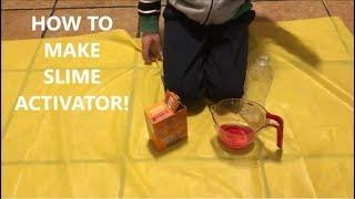 How To Make Slime Activator! (without borax or contact solution) Easy DIY Slime Activator!