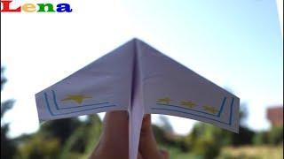 Papier Flugzeug Falten How To Make A Paper Airplane как