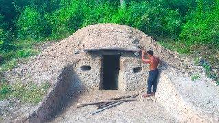 Unbelievable! A Small Hill become Beautiful Underground House Build by a Men - Hobbit House part 1