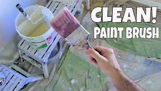 How to keep a Paint Brush Clean Trick- Pro Painter Secrets Revealed!