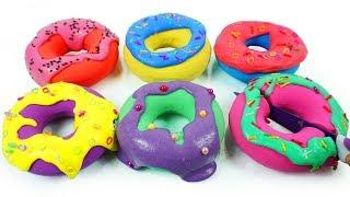 How to Make Slime Doughnuts Learn Colors with Mad Mattr Rainbow Nursery Rhymes for Kids