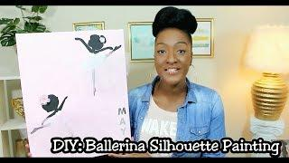 DIY Ballerina Silhouette Tutu Painting | Girls Room Wall Decor | Newborn | Chanelle Novosey