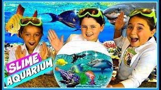 Real SLIME Aquarium!  Learn How To Make A Slime Fish Tank w/ Ocean Sea Animals