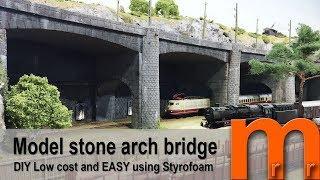 Model a stone arch bridge easy & low cost