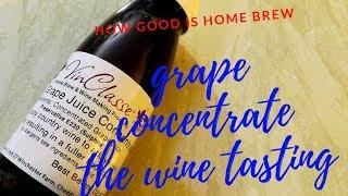 home brew grape concentrate wine part 2