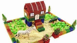DIY How To Make Rainbow Stilt House From Magnetic Balls (ASMR) ???? Surprise Balls Video 4K