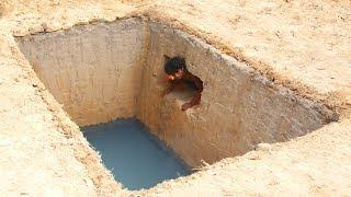 Dig To Build The Most Secret Underground Hidden House And Swimming Pool