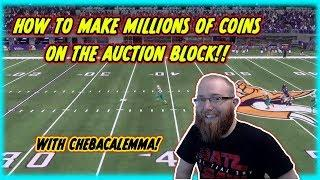 How to Make millions of Coins on the Auction House in Madden!! With ChewbaccaLemma!