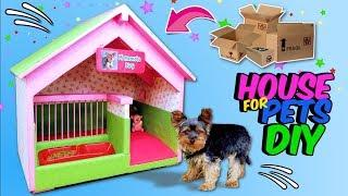 DIY DOGHOUSE - How to Make Amazing Puppy Dog House from Cardboard