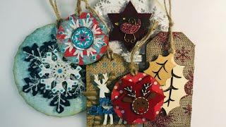 Festive Week 1 - Fun & Easy Mixed Media Christmas Decorations & Gift Tags