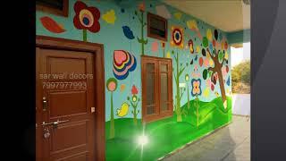 school carridor cartoon wall painting #wall painting for play school  in Hyderabad  7997977993
