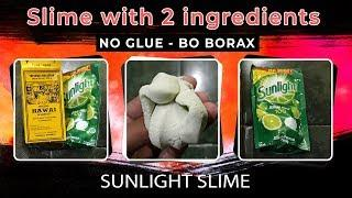 Diy Sunlight Slime Tutorial - How to Make Slime with 2 Ingredients - No Borax - No Glue