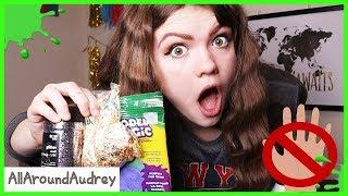 Slime Making Challenge - Can Only Use One Hand! / AllAroundAudrey