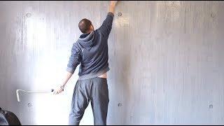 Painted concrete wall (faux paint effect)