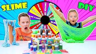 Mystery Wheel of SLIME Challenge!! Spin the Mystery Wheel & Make SLIME with Surprise Ingredients