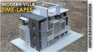 MODERN VILLA | TIME-LAPES How to make realistic villa house |