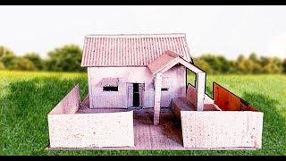 Make a Beautiful House from Cardboard-simple DIY