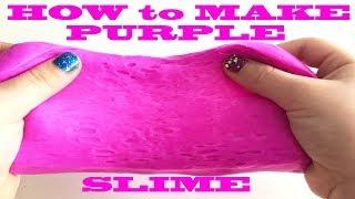How to Make PURPLE  SLIME for Beginners, Making  Slime and Satisfying Slime Video как сделать слизь