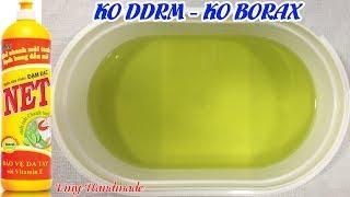 Slime Trong Từ Nước Rửa Chén Và Nước Súc Miệng T-B (Không Borax, Không Chất Kích Hoạt)