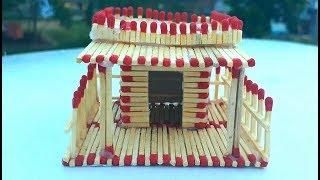 How to make a match house fire at home - match stick house fire | sarif art.