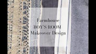 Farmhouse Boy's Room Makeover Design Ideas