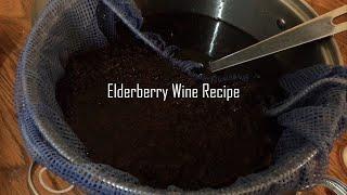 Elderberry Wine: Recipe and Fermentation Step 2