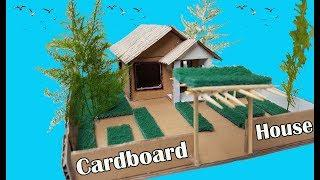 How To Make Cardboard House, Paper House, DIY Paper