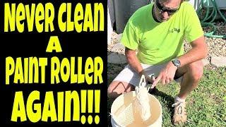 How to Never Have to Clean Your Paint Roller Trick- Pro Painter Secrets Revealed