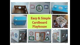 How To build a DIY cardboard house for kids ? - Keep kids away from TV and phone