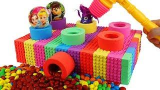 How To Make Pounding Toys with Kinetic Sand Rainbow Mad Mattr Train Toy Videos for Kids