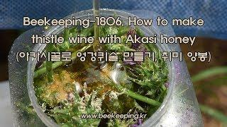 Beekeeping-1806, How to make thistle wine with Akasi honey (아카시꿀로 엉겅퀴술 만들기, 취미 양봉)