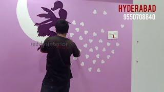 Wall paint design Asian Paint Royale Play