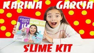 Making Slime with Karina Garcia SLime Kit!