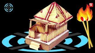 How to make a Match House at Home - Match stick House Not Fire | Matchstick Art and Craft Ideas