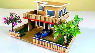 Building Easy and Quick Mansion House with Garden From Cardboard #56   Backyard Crafts