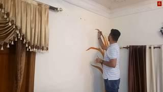 How to paint a Tree wall painting on Drawing room || G ahuja Arts || 2k18