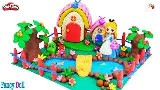 How to make Princess house from play doh, Doll's house *Fancy Doll