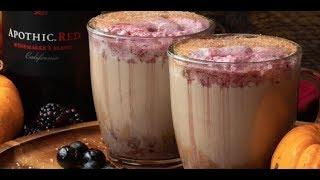 How to make a red wine spiced latte