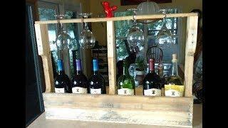 Make a pallet wine rack