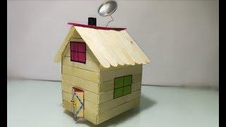 How to make popsicle house | walkthrough popsicle stick house | house made of popsicle sticks