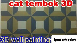 Cat tembok 3D- 3D wall painting decoration- 3D wall paint- cat 3D