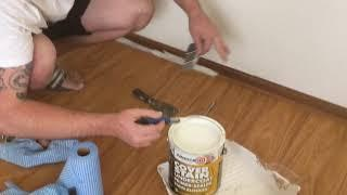 How to paint skirting boards/beading on hardwood floor without getting paint on the floor and tape
