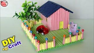 Amazing ! Mini Craft House Making || House Craft for Kids || DIY Room Decor 2018 || Handmade Craft